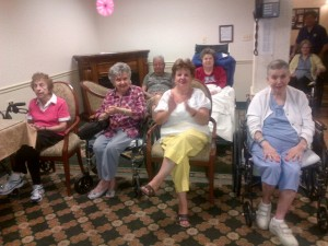 Ladies enjoying a concert at Regency Park