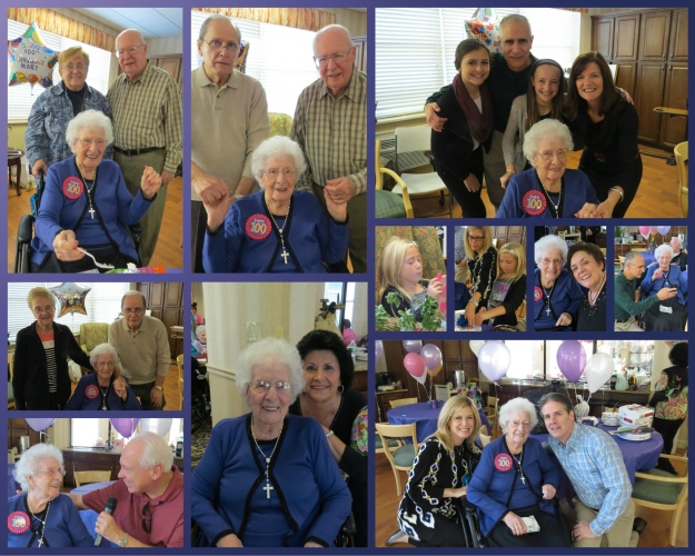 Mary at her party surrounded by family and friends!